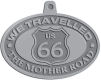 Ace Recognition Pewter KeyTag, Medal, Pendant - with your text and logo - Route 66 - US 66 - historic - the mother road, route 66, route sixty six, route sixty-six, historic highway, historic road, mother road, metal