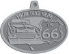 Ace Recognition Pewter KeyTag, Medal, Pendant - with your text and logo - Car designs - US route 66 - vintage cars - classic cars - roadster - your text, route 66, route sixty six, route sixty-six, historic highway, historic road, mother road, transportation