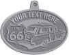 Ace Recognition Pewter KeyTag, Medal, Pendant - with your text and logo - Car designs - US route 66 - vintage cars - classic cars - corvette - sports car - your text, route 66, route sixty six, route sixty-six, historic highway, historic road, mother road, transportation