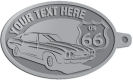 Ace Recognition Pewter KeyTag - with your text and logo - Car designs - US route 66 - vintage cars - classic cars - sports car - your text, route 66, route sixty six, route sixty-six, historic highway, historic road, mother road, transportation