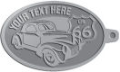 Ace Recognition Pewter KeyTag - with your text and logo - Car designs - US route 66 - vintage cars - classic cars - coupe - your text, route 66, route sixty six, route sixty-six, historic highway, historic road, mother road, transportation