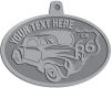 Ace Recognition Pewter KeyTag, Medal, Pendant - with your text and logo - Car designs - US route 66 - vintage cars - classic cars - coupe - your text, route 66, route sixty six, route sixty-six, historic highway, historic road, mother road, transportation
