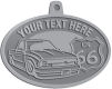 Ace Recognition Pewter KeyTag, Medal, Pendant - with your text and logo - Truck designs - US route 66 - vintage trucks - classic trucks - trucks - pickup - your text, route 66, route sixty six, route sixty-six, historic highway, historic road, mother road