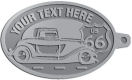 Ace Recognition Pewter KeyTag - with your text and logo - Car designs - US route 66 - vintage cars - classic cars - truck - pickup - your text, route 66, route sixty six, route sixty-six, historic highway, historic road, mother road, transportation