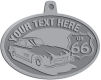 Ace Recognition Pewter KeyTag, Medal, Pendant - with your text and logo - Car designs - US route 66 - vintage cars - classic cars - sports car - your text, route 66, route sixty six, route sixty-six, historic highway, historic road, mother road, transportation