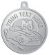 Ace Recognition Pewter KeyTag, Medal, Pendant - with your text and logo - Car Designs - US route 66 - classic car - roadster - vintage cars - corvette - your text, transportation, metal