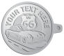 Ace Recognition Pewter KeyTag - with your text and logo - Car Designs - US route 66 - convertible - vintage cars - sports car - your text, transportation, metal