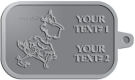 Ace Recognition Pewter KeyTag - with your text and logo - Sports, mascots, sports, birds, teams, high school, college, university