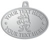 Ace Recognition Pewter KeyTag, Medal, Pendant - with your text and logo - Sports, mascots, sports, animals, foxes, teams, high school, college, university