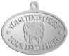 Ace Recognition Pewter KeyTag, Medal, Pendant - with your text and logo - Sports, mascots, animals, teams, high school, college, university