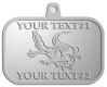 Ace Recognition Pewter KeyTag, Medal, Pendant - with your text and logo - Sports, mascots, sports, reptiles, crocodiles, alligators, teams, high school, college, university