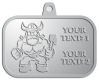 Ace Recognition Pewter KeyTag, Medal, Pendant - with your text and logo - Sports, mascots, vikings, norsemen, high school, college, university