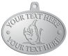 Ace Recognition Pewter KeyTag, Medal, Pendant - with your text and logo - Sports, mascots, fish, sharks, high school, college, university
