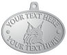 Ace Recognition Pewter KeyTag, Medal, Pendant - with your text and logo - Sports, mascots, animals, high school, college, university