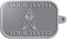 Ace Recognition Pewter KeyTag - with your text and logo - Sports, mascots, martial arts, warriors, high school, college, university