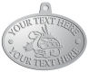Ace Recognition Pewter KeyTag, Medal, Pendant - with your text and logo - Sports, mascots, turtles, amphibians, high school, college, university