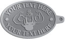 Ace Recognition Pewter KeyTag - with your text and logo - Men, man, bodybuilding, body-building, weightlifting