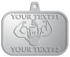 Ace Recognition Pewter KeyTag, Medal, Pendant - with your text and logo - Men, man, bodybuilding, body-building, weightlifting