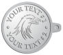 Ace Recognition Pewter KeyTag - with your text and logo - Tribal, tattoos, birds, eagles, hawks, ospreys, birds of prey, predators