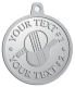 Ace Recognition Pewter KeyTag, Medal, Pendant - with your text and logo - ping pong, paddles, table tennis