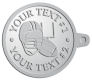 Ace Recognition Pewter KeyTag - with your text and logo - ping pong, paddles, table tennis,  exercise, fitness, fun, games, racket, racquet, raquet, recreation, serve, set, sport, sporting