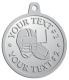 Ace Recognition Pewter KeyTag, Medal, Pendant - with your text and logo - ping pong, paddles, table tennis,  exercise, fitness, fun, games, racket, racquet, raquet, recreation, serve, set, sport, sporting