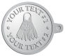 Ace Recognition Pewter KeyTag - with your text and logo - badminton, birdies, exercise, fitness, fun, games, racket, racquet, raquet, recreation, serve, set, sport, sporting