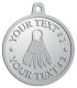 Ace Recognition Pewter KeyTag, Medal, Pendant - with your text and logo - badminton, birdies, exercise, fitness, fun, games, racket, racquet, raquet, recreation, serve, set, sport, sporting