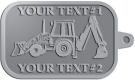 Ace Recognition Pewter KeyTag - with your text and logo - front loaders, excavators, back hoes, backhoes, loaders, trenchers, excavators, excavating, equipment, diggers