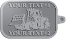 Ace Recognition Pewter KeyTag - with your text and logo - bulldozers, machinery, equipment, heavy