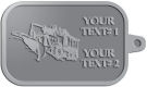 Ace Recognition Pewter KeyTag - with your text and logo - snow plows, plows, snow removal, road equipment, heavy equipment