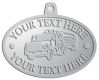 Ace Recognition Pewter KeyTag, Medal, Pendant - with your text and logo - logging equipment, logging truck, trucking, cargo, industry, logging, truck, lumber