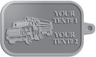 Ace Recognition Pewter KeyTag - with your text and logo - logging equipment, logging truck, trucking, cargo, industry, logging, truck, lumber