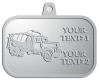 Ace Recognition Pewter KeyTag, Medal, Pendant - with your text and logo - cement truck, concrete, construction, heavy equipment, road construction, home renovation