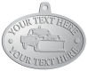 Ace Recognition Pewter KeyTag, Medal, Pendant - with your text and logo - snow removal, truck, plow, pick up, pick-up, snow plow