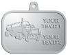 Ace Recognition Pewter KeyTag, Medal, Pendant - with your text and logo - tanker trucks, tank trucks, truck tankers, truck tanks, carriers, haulers, transportation