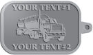 Ace Recognition Pewter KeyTag - with your text and logo - tanker trucks, tank trucks, truck tankers, truck tanks, carriers, haulers, transportation