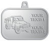 Ace Recognition Pewter KeyTag, Medal, Pendant - with your text and logo - dump truck, road construction, machinery, heavy equipment, transportation