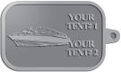 Ace Recognition Pewter KeyTag - with your text and logo - boats, recreation, speed boat, motorboat, motor boat, watercraft