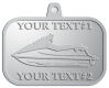 Ace Recognition Pewter KeyTag, Medal, Pendant - with your text and logo - boats, watercraft, water craft, speed boats, pleasure boats, pleasure craft