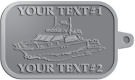 Ace Recognition Pewter KeyTag - with your text and logo - boats, watercraft, water craft, motor yachts, pleasure boats, pleasure craft