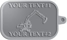 Ace Recognition Pewter KeyTag - with your text and logo - diggers, excavators, excavation, excavation equipment, excavation machines, excavation machinery, digger tractors, crawler excavators