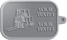 Ace Recognition Pewter KeyTag - with your text and logo - forklifts, fork lifts, reach trucks, lift trucks, hoist trucks, industrial vehicles