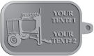 Ace Recognition Pewter KeyTag - with your text and logo - cement mixers, concrete mixers, masonry mixers, concrete, mortar