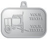 Ace Recognition Pewter KeyTag, Medal, Pendant - with your text and logo - cement mixers, concrete mixers, masonry mixers, concrete, mortar