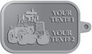 Ace Recognition Pewter KeyTag - with your text and logo - cab enclosures, machines, industrial equipment, construction machinery, cabs