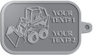 Ace Recognition Pewter KeyTag - with your text and logo - bucket front loaders, wheel loaders, machinery , loaders, excavators, bulldozers