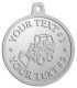 Ace Recognition Pewter KeyTag, Medal, Pendant - with your text and logo - bucket front loaders, wheel loaders, machinery , loaders, excavators, bulldozers