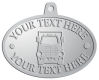 Ace Recognition Pewter KeyTag, Medal, Pendant - with your text and logo - cube truck, delivery vans, panel trucks, trucks, transport trucks, delivery vehicles, transportation