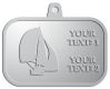 Ace Recognition Pewter KeyTag, Medal, Pendant - with your text and logo - catboat, daggerboard, sailboats, sail boat, sailing ships, sailing boats, sails, sailing-boats